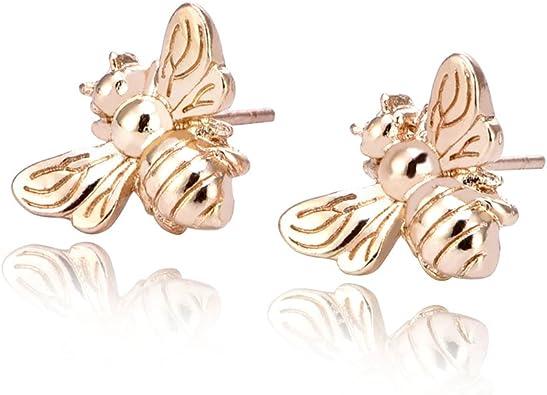 Studs Bumblebee Earrings Animal Lover Gift Bee Earrings 1 PAIR Handmade Insect Earrings