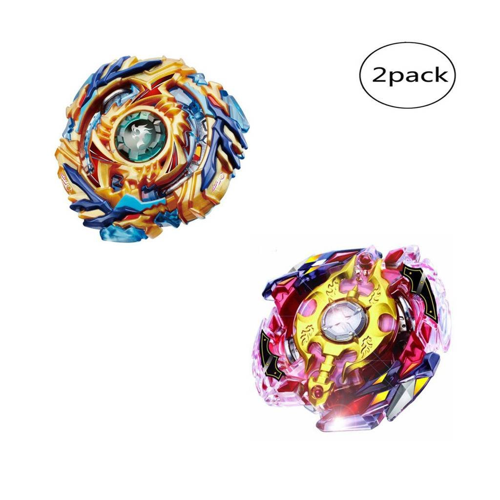 WenJie [2 Pack] Beyblade Burst - Personally Assemble to Improve Your Child's Manual Ability - Stamina Type - 2 X Combat Combination ( 2 Beyblade + 2 Launcher ) - b79+b86 by WenJie (Image #1)