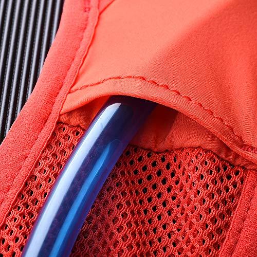 POJNGSN Hydration Pack Backpack Rucksack Bag Vest Harness Water Bladder Hiking Camping Running Race Climbing 5L ML Black 2L Bladder by POJNGSN (Image #5)
