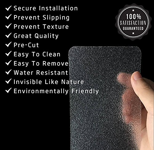 15-Pack(4''x 24''),Non-Slip Clear Adhesive Stair Treads,Translucent Safety Stair Traction Hardwood Treads,PVC-FREE Anti Slip Clear Adhesive Strips,Baby/Elder/Pet Safety,Indoor/Outdoor by Any Beauty (Image #1)