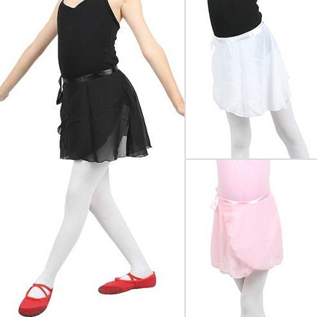 Gleader Gonna balletto della ragazza e donna Danza pattinaggio sciarpa dellinvolucro 1 formato Bianco