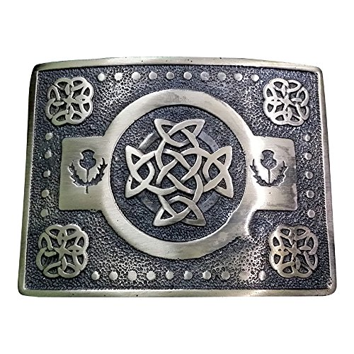 AAR Scottich Kilt Belt Buckle Celtic knot Design Antique finish