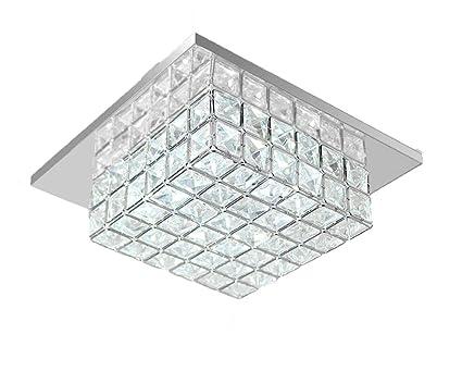 Deckenleuchte Flur Deko Kristall Eckig Lampenschirme Lampe Jugendzimmer Kristallampe Led Deckenlampe K9 Crystal Quadratisch Licht Decke