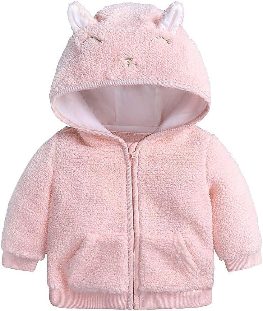 Londony▼ Toddler Baby Unisex Jacket Outwear Cartoon Sheep Warm Fleece Zipper Puffer Coat Clothes