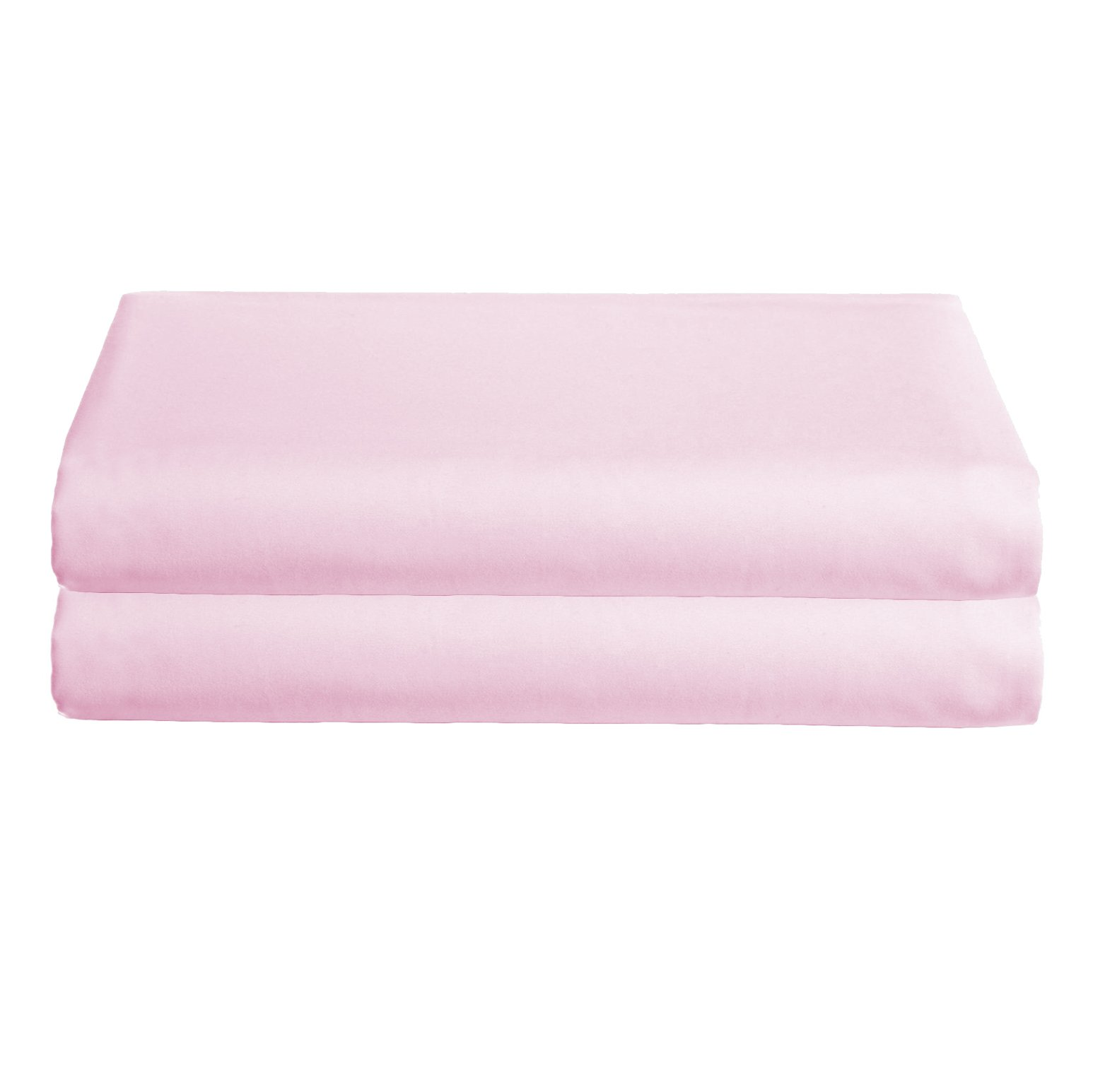 Babydoll Bedding Poly Cotton Set of 2 Cradle Sheets, Pink, 15'' x 33''