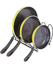 MetroDecor mDesign Organizadores de sartenes – Elegantes Accesorios para Muebles de Cocina – Estanterías para Cocina