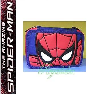 Estuche Escolar Spiderman Hombre Araña completo 3 pisos ...