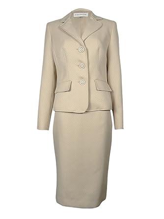 Amazon Com Evan Picone Women S Work Smart Textured Skirt Suit Clothing