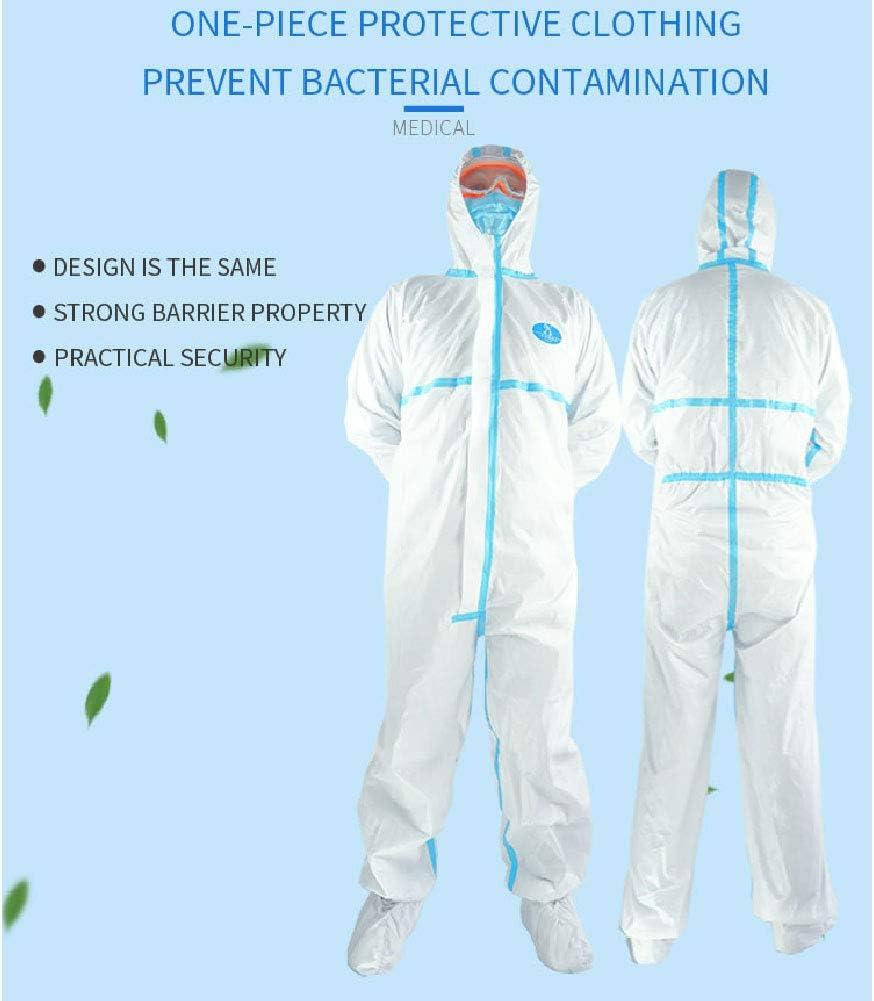 Rzj-njw Hohe Antibakterielle Reusable Plastic Verschl/üsse Isolation Anzug Verhindern Invasion von Virus Waschbar und Wiederverwendbare Schutz Kleidung,165/_170