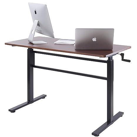 Amazon.com: UNICOO – Mesa de pie con manivela ajustable de ...