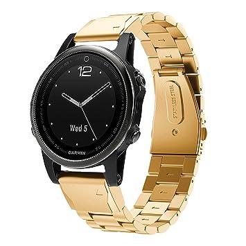 TopTen Garmin Fenix 5S - Correa de Repuesto para Reloj Inteligente Garmin Fenix 5S, de