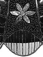 Vijiv 1920s Flapper Dresses With Sleeve Squins Vintage Costume Cocktail Dress