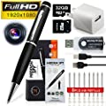 SpyGear-MINICUTE Hidden Camera Spy Pen 1080P- Bundle 32GB MICRO Card + 6 INK FILLS +Updated battery+SD card Adapter+Card reader-Real 2560 x 1920HD Video+Voice&Image Recorder. - MINICUTE