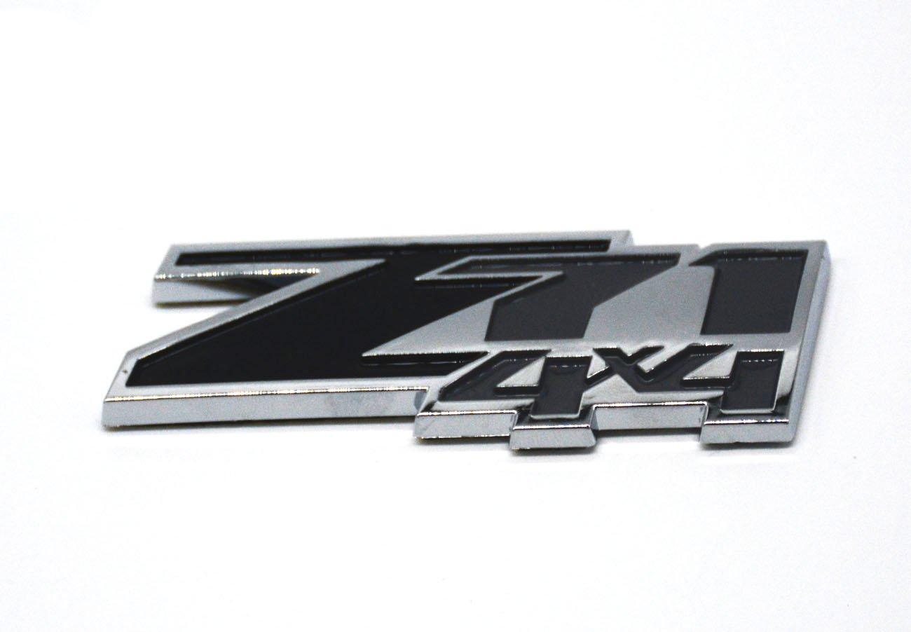 Aimoll 2pcs Z71 4x4 Emblems Badges Black Grey 3D ABS Decal Emblems for Chevy GMC Silverado