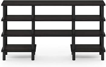 Furinno Turn-N-Tube 4-Tier Multipurpose Wide TV Stand Shelf