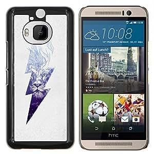 Dragon Case - FOR HTC One M9+ / M9 PLUS - lion blue danger high voltage lightning - Caja protectora de pl??stico duro de la cubierta Dise?¡Ào Slim Fit