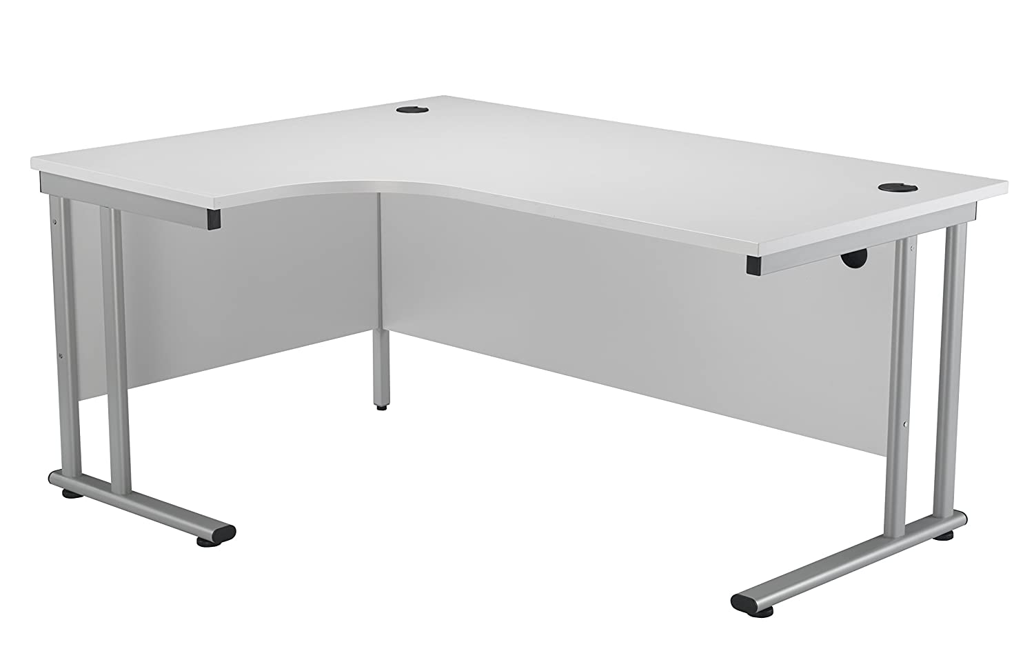 Office Hippo Professional Left Corner Office Desk Wood White