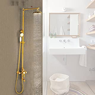 ZHFC doccia bagno Europeo tutto bronzo Doccia diamante Pioggia doccia Doccia set Retro doccia in titanio rubinetto
