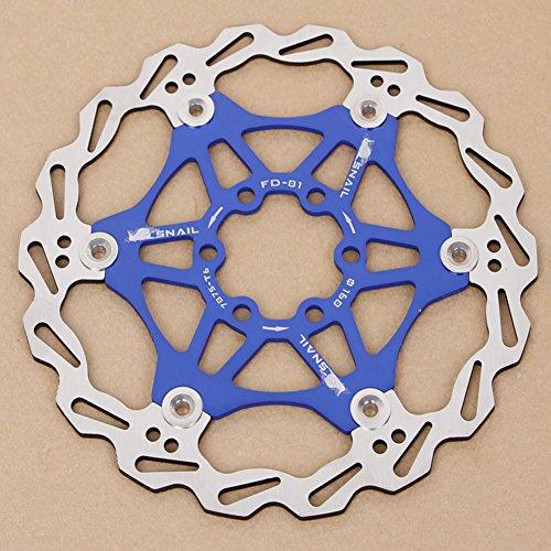 SCASTOE 1Pc Bicycle Mountain Bike MTB Brake Float Floating Disc Rotors Plate 160mm New (Blue)