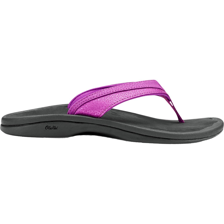OLUKAI Women's Ohana Sandal, Dahlia/Black, 5 M US