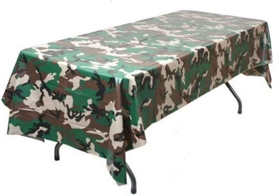 Oojami Pack Of 4 Camouflage Plastic Tablecover Camo Tablecloth 54 X 108 Furniture Decor Amazon Com