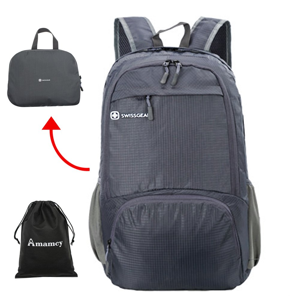 Amamcy Lightweight Packable Travel Hiking Backpack Durable Daypack Water Resistance Foldable Outdoor Bag for Women Men