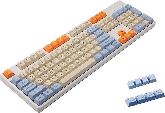 Teclado mecánico YMDK Godspeed de alta velocidad con diseño de teclas de perfil OEM PBT gruesas para teclado mecánico estándar ANSI 61 TKL 108 MX 108 ...
