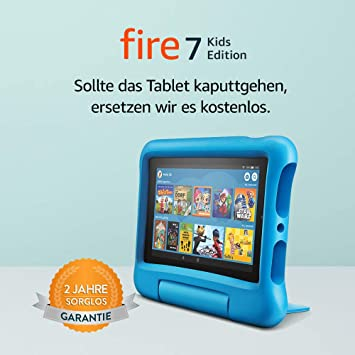 Fire 7 Kids Edition Tablet 7 Zoll Display 16 Gb Blaue Kindgerechte Hülle Amazon Devices