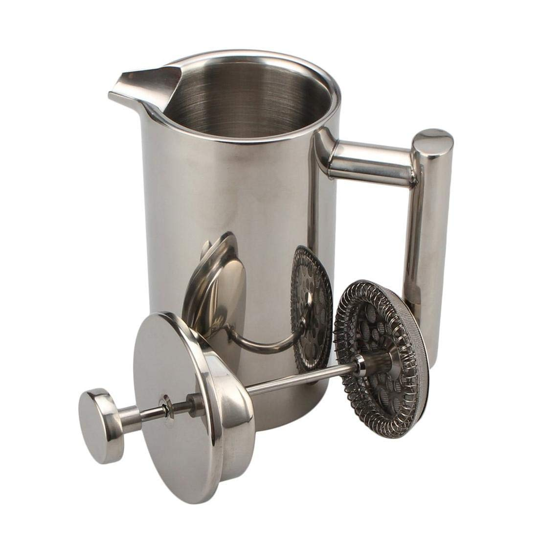 Seatour 1000ML Stainless Steel Double Wall Insulated French Press Coffee Tea Pot with Filter by Seatour (Image #3)