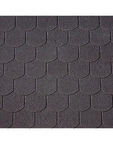 Schwarz Dachschindeln Biberschwanz 3 m/² mit Glasvlieseinlage Bitumenschindeln Schindeln Biberschwanzschindeln
