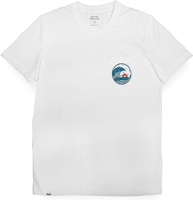 Brava Fabrics | Camiseta Hombre Manga Corta | Camiseta Gris Hombre | Camiseta Casual | Camiseta Hipster | 100% Algodón | Modelo Japanese Wave: Amazon.es: Ropa y accesorios