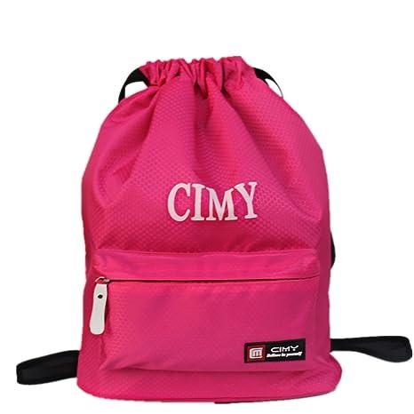 Bolsas de gimnasio impermeables, bolsa de natación, mochilas con cordón, zona seca y