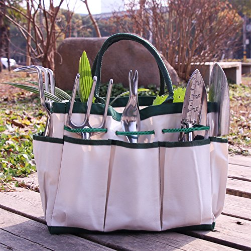 Croch Garden Tools Set - 12 Piece Gardening Gifts Tool Kit for Women & Men with 6 Hand Tools, Garden Storage Tote, Garden Gloves,Seeds Bag,Plant Labels,Garden Tie and Seeder Tool by Croch (Image #7)