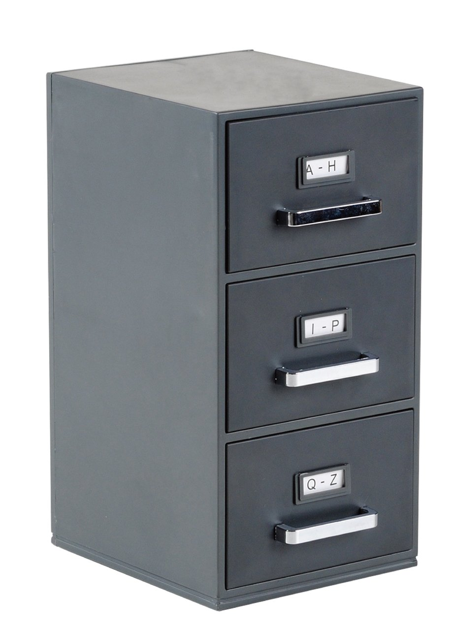 Amazon.com : Mini File Cabinet Business Card Holder 3-Drawer ...