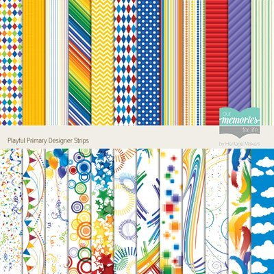 Playful Border - Playful Primary Designer Border Strips by Our Memories for Life