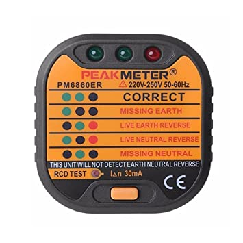 Automatic Electric Socket Tester Outlet Tester Polarity Check Meter ...