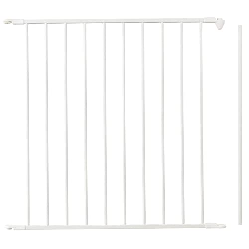 BabyDan 67254-2400 Flex Metal 28.4 Inch Baby and Pet Gate Extension Panel Accessory, White