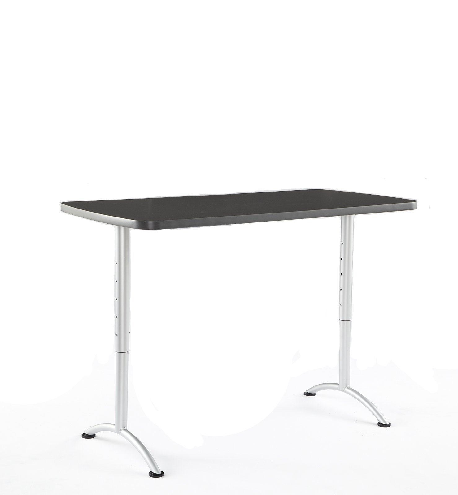 Iceberg ICE69317 ARC 5-foot Adjustable Height Rectangular Conference Table, 30'' x 60'', Graphite/Silver Leg