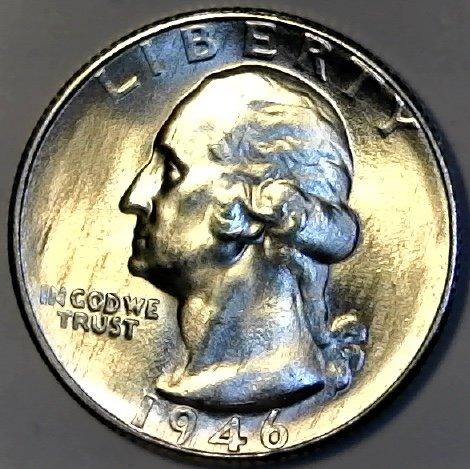 1946 S Silver Washington Quarter MS-63 (Coin Album 63)