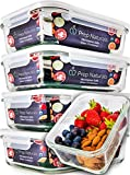 Kitchen & Housewares : [5-Pack] Glass Meal Prep Containers - Food Prep Containers with Lids Meal Prep - Food Storage Containers Airtight - Lunch Containers Portion Control Containers - BPA Free Container [29 ounce]