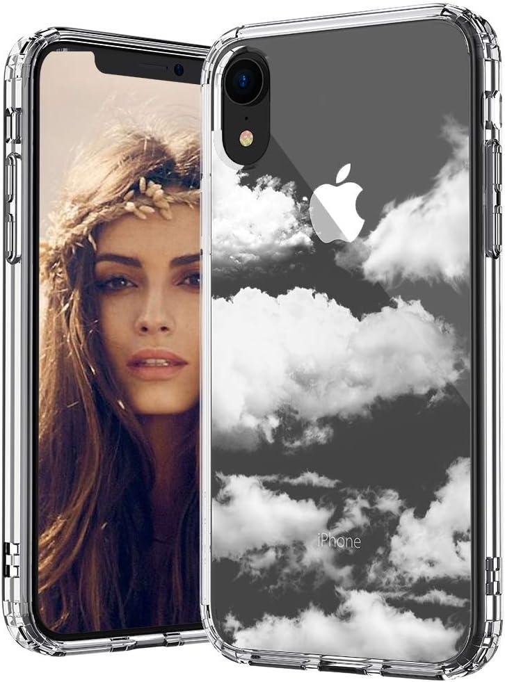 Funda para iPhone XR transparente con estampado de nubes