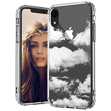 Mosnovo I Phone Xr Case, Cloud Pattern Printed Clear Design Transparent Plastic Back Case With Tpu Bumper Protective Case Cover For I Phone Xr by Mosnovo