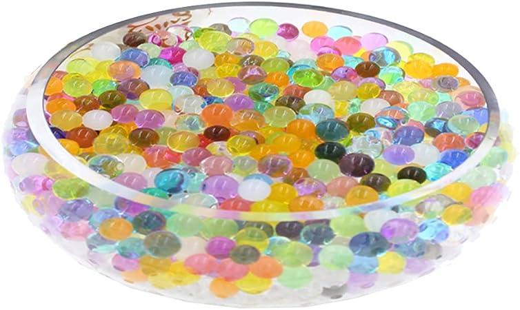 F/ête D/écoration Turquoise Bureau Transparent 1000pcs WedDecor Aqua Gel Eau Balles Non Toxique Bio-D/égradable Cristal Bio Sol Hydrogel pour Maison Centerpiece Vase R/éservoir