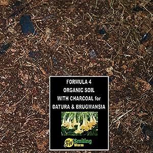 7,5litro Potting Soil mezcla de tierra de empotage con del Carbón vegetal–Sustrato universal Notre limpia receta mezcla de la mano 100% orgánica Bon para Datura Brugmansia Exotic flores