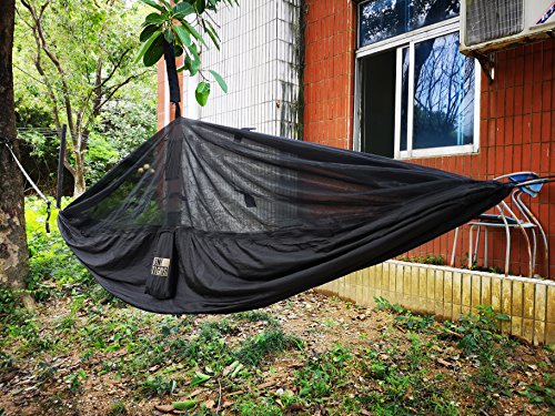 OneTigris Camping Hammock Outdoor Hanging Bed with Mosquito Net Portable Lightweight