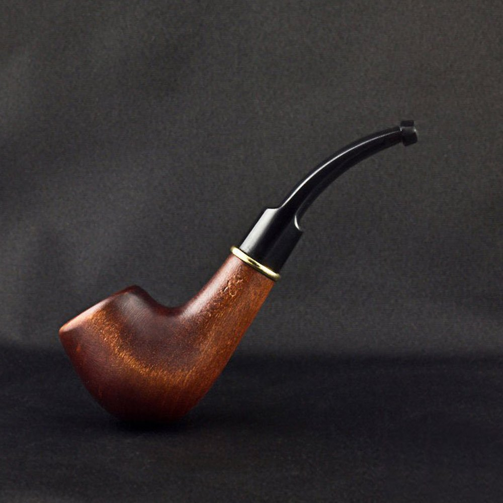 5.31'' Carved wooden smoking pipe. WORLDWIDE shipping.