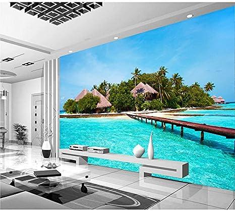 Sproud Maldive Sea Island Soggiorno Sfondo Tv 3D Wallpaper Murals 3D ...