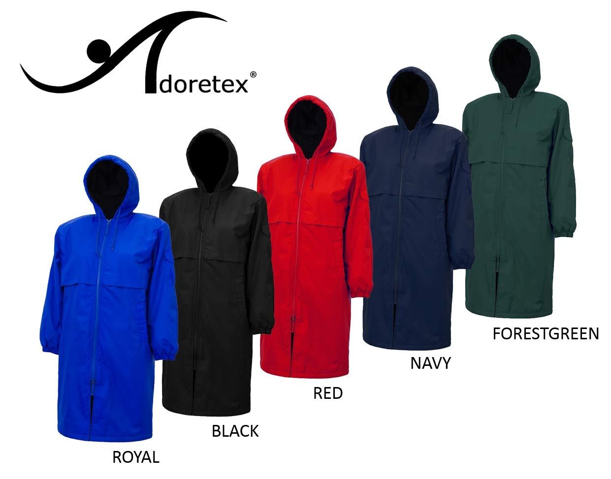 Adoretex Unisex Swim Parka Water Resistant Warm Coat Water Sports Swim Parka Adults & Kids (Black Lining)