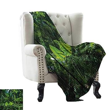 Amazon.com: LsWOW - Manta de yoga para planta, verde jungla ...