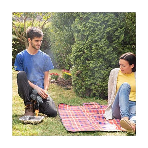 Relaxdays, Argento Griglia Monouso, Instant Barbecue, 2 Piedini, 500 g di Carbonella Inclusi, BBQ con Accensione… 2 spesavip